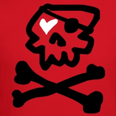 Kantno Skull & Crossbones & Heart Men's Sweatshirt