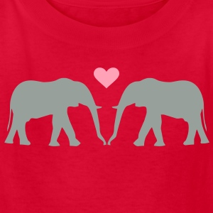 Kantno Elephant Love - Kids' T-Shirt