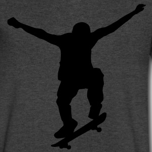 skater silhouette T-Shirts - Men's V-Neck T-Shirt by Canvas