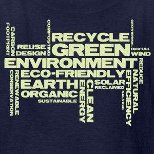 Green Word Cloud  - Kids' T-Shirt