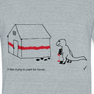 Design ~ T-Rex Painting House (Am. Apparel)