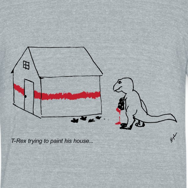 T-Rex Painting House (Am. Apparel)