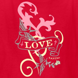 Kantno Bird Scroll Love Kid's T-shirt - Kids' T-Shirt