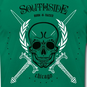 southside born-n-raised chicago - Men's T-Shirt by American Apparel
