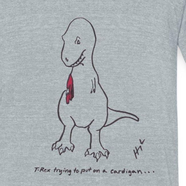 T-Rex Trying Cardigan (Am Apparel)