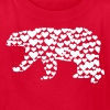 Kantno Polar Bear Hearts Girls Red T-Shirt - Kids' T-Shirt