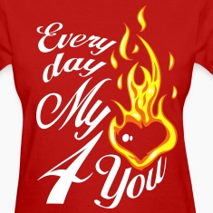 My heart is burning Women's T-Shirts