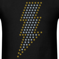 Design ~ Lightning! Metallic gold & silver