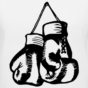 Boxing Gloves / Boxing Vector Design Women's T-Shirts - Women's V-Neck T-Shirt