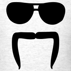 Mustache sunglasses T-Shirts