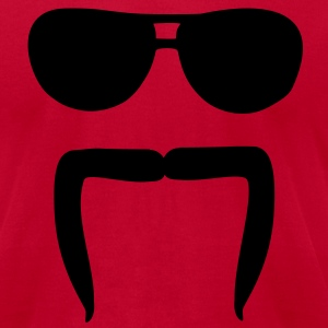 Mustache sunglasses T-Shirts - Men's T-Shirt by American Apparel