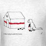 Design ~ T-Rex Painting House- Basic Tee