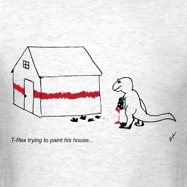 T-Rex Painting House- Basic Tee