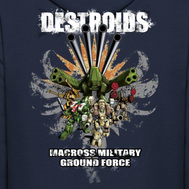 2-Sided Navy Blue Macross Destroid Hoodie
