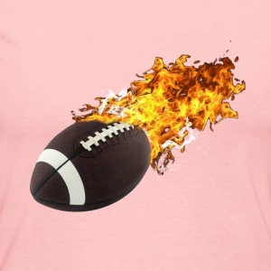 Flaming Football Long Sleeve Shirts - Women's Long Sleeve Jersey T-Shirt