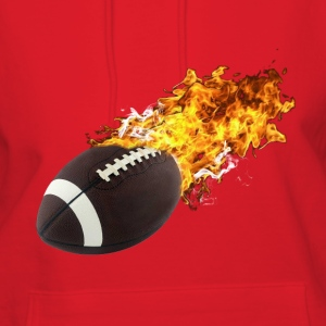 Flaming Football Hoodies - Women's Hoodie