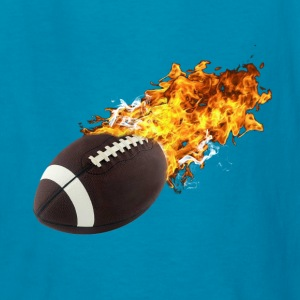 Flaming Football Kids' Shirts - Kids' T-Shirt