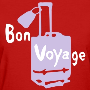 Bon voyage Suitcase suit case art Women's Standard Weight T-Shirt - Women's T-Shirt