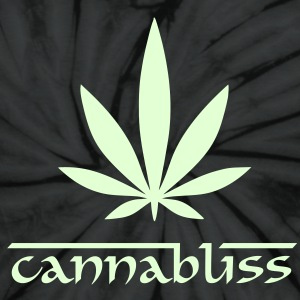 Glow in the dark Cannabliss - Unisex Tie Dye T-Shirt