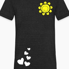 Hearts & sun Men's Tri-Blend Vintage T-Shirt by American Apparel