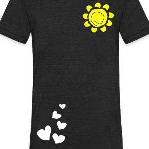 Hearts & sun Men's Tri-Blend Vintage T-Shirt by American Apparel - Unisex Tri-Blend T-Shirt