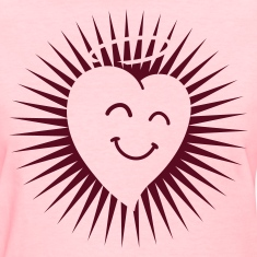 Happy Heart in Shine 1c Women's T-Shirts