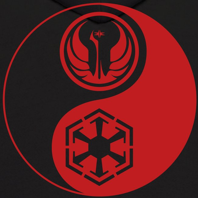 Star wars gamerware 2 logo star wars the old republic red yin yang mens hoodie - Republic star wars logo ...