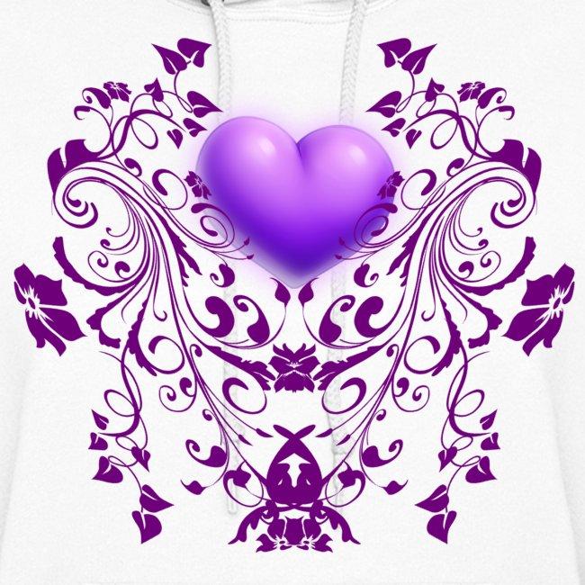 Womens Heart Swirl Hoodie