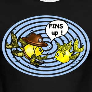 fins up , hands up fish  - Men's Ringer T-Shirt