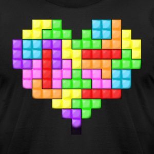 For The Love Of Tetris Tee - Men's T-Shirt by American Apparel
