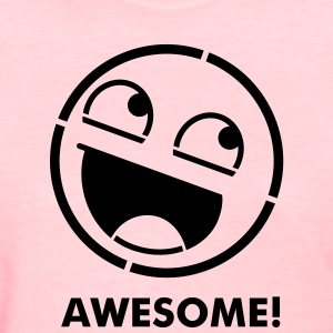 Awesome Smiley Stencil 1c Women's T-Shirts - Women's T-Shirt
