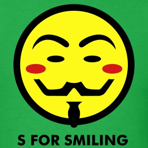 Vendetta Smiley Icon 3c T-Shirts - Men's T-Shirt