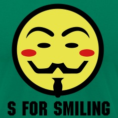 Vendetta Smiley Icon 3c T-Shirts