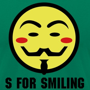 Vendetta Smiley Icon 3c T-Shirts - Men's T-Shirt by American Apparel
