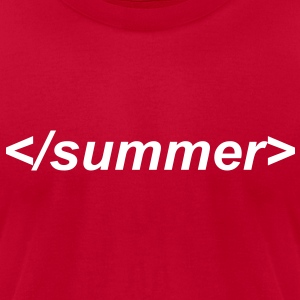 End of summer html end tag - Men's T-Shirt by American Apparel