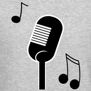 music microphone Long Sleeve Shirts - Crewneck Sweatshirt