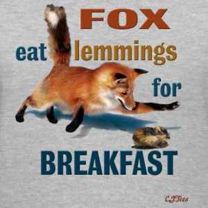 Lady's V -  FOX Eat Lemmings For Breakfast - Women's V-Neck T-Shirt