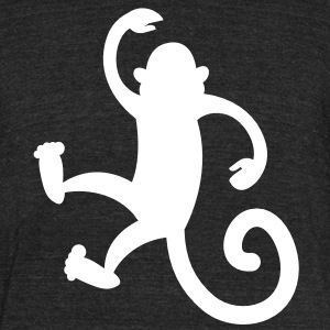 monkey dancing or hanging so cute! T-Shirts - Unisex Tri-Blend T-Shirt by American Apparel