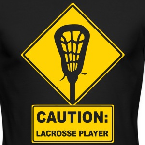 Caution: Lacrosse Player Long Sleeve Shirts - Men's Long Sleeve T-Shirt by Next Level