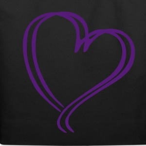 Purple Glitz Heart Tote - Eco-Friendly Cotton Tote