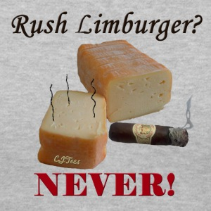 Lady's V - Rush Limburger? NEVER! - Women's V-Neck T-Shirt