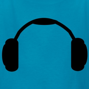 DJ Earphones Vector Design Kids' Shirts - Kids' T-Shirt