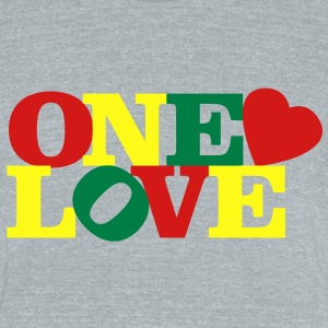 One Love T-Shirts - Unisex Tri-Blend T-Shirt by American Apparel