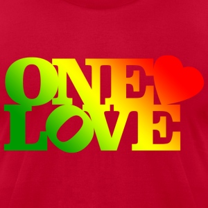 One Love Rasta T-Shirts - Men's T-Shirt by American Apparel