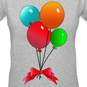 Balloons - Women's V-Neck T-Shirt