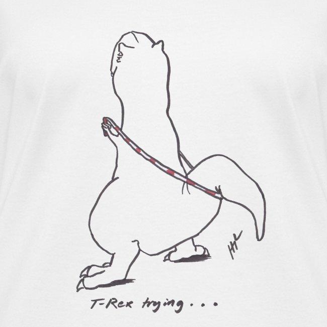 T-Rex Jump Rope (Ladies V Neck)