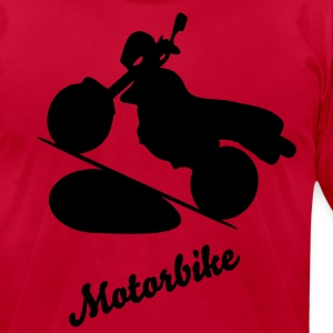 Motorbike Men's T-Shirt by American Apparel - Men's T-Shirt by American Apparel