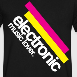 Electronic music lover t-shirt  - Men's V-Neck T-Shirt by Canvas