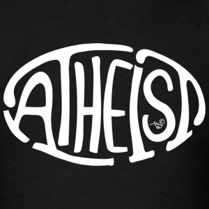 Atheist Oval (white) - Men's T-Shirt