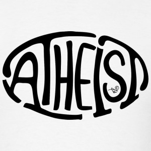 Atheist Oval - Men's T-Shirt